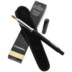 CHANEL LES PINCEAUX Retractable Lip Brush ($23) ❤ liked on Polyvore featuring beauty products, makeup, makeup tools, makeup brushes, beauty, fillers, cosmetics, chanel, chanel makeup brushes en lip brush