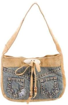 6b106b529bf Medium wash distressed denim D G mini bag with gold-tone hardware