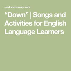 """""""Down"""" 