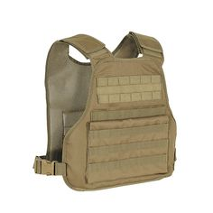 A plate carrier with padded, adjustable shoulder straps designed with removable cummerbund that allows for more maneuverability and wear with front and back plates. Carrier will accept front and rear plates 10″W x 12″H x 1/2″D. When cummerbund is worn without side plates, the empty pockets can carry your maps or other gear. Carrier and cummerbund have MOLLE webbing for attaching your pouches. One size fits most.