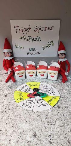 Elf On The Self, The Elf, Fidgit Spinner, Fidget Spinner Games, Awesome Elf On The Shelf Ideas, Peppermint, December, Shelves, Joy