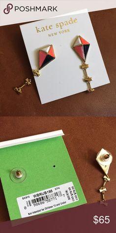 NWT KATE SPADE kite gold earrings Adorable kate spade Jewelry Earrings