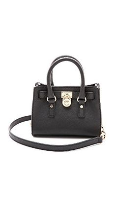 Amazon.com  MICHAEL Michael Kors Hamilton Mini Messenger Crossbody Bag in  Black  Shoes 5afffdd351fac
