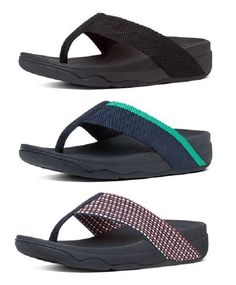 7dfbffe4063ba0 Sandals and Flip Flops 62107  Fitflop Women S Surfa Fabric Thong Flip Flops  Beach Sandals Sizes 6 7 8 9 10 11 -  BUY IT NOW ONLY   58.95 on eBay!