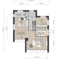 Grote Kaap B - Lighthouse Living Two Bedroom Floor Plan, Loft Floor Plans, Bedroom House Plans, House Floor Plans, Modern House Plans, Small House Plans, Cosy House, Sims House, Bungalows