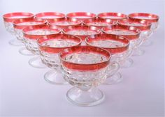 Whitehall Ruby Flash Punch Cups by OSGVintage on Etsy