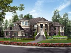 30 Surprising Information Regarding Dream House Exterior Mansions Luxury Entrance Exposed - walmartbytes French Country House Plans, European House Plans, Country Style Homes, French Country Style, European Style, Dream House Exterior, Big Houses, Dream Houses, Large Houses