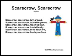 Scarecrow, Scarecrow song for kids with movement