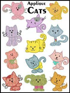 para hacer broches, aplicaciones, de gatos