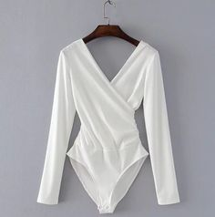 Cheap monos cortos de mujer, Buy Quality sleeve bodysuit directly from China jumpsuit black Suppliers: SheMujerSky Long Sleeve Bodysuit Women Backless Jumpsuits Black White Body femme monos cortos de mujer 2017 High Cut Bodysuit, Ribbed Bodysuit, White Bodysuit, Black Long Sleeve Bodysuit, Backless Bodysuit, Backless Jumpsuit, Pullover Shirt, Womens Bodysuit, Bodysuit Fashion
