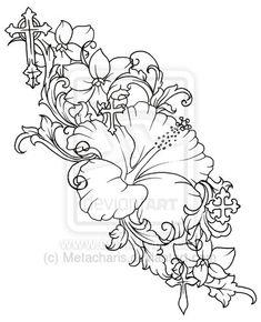 Hibiscus Flower Tattoo by ~Metacharis on deviantART