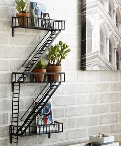 mens-gift-ideas:  Fire Escape Shelf