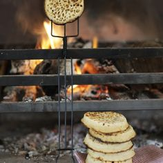 Cosy crumpets by the fire. www.uk-tefl-local.com #english