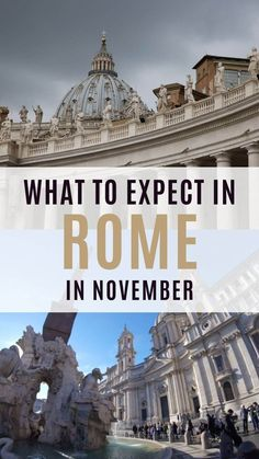 November in Rome is low season and this can be a blessing for visitors. Learn how to make the most of your time in the city what to wear in Rome in November and what to expect from the weather in this FREE guide to Rome in November Travel Travel Travel Italy Travel Tips, Europe Travel Guide, Rome Travel, Travel Destinations, Travel Packing, Budget Travel, Weather In Italy, Rome Events, Travel