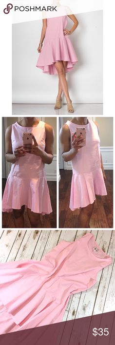 Pink Flare Dress ✳️Feel free to make a reasonable offer. 👍 ✳️ 🔹Sleeveless.  Round neck. Loose fit. 🔹Size recommendations: S (2-4); M (6-8); L (10-12) 🔸Note: I'm wearing a size S in the pic.🔸 CC Boutique  Dresses Mini