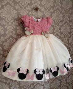 $189 Zolindu Minnie Girls Dress  Girls First Communion Dresses, Baby Girl Party Dresses, Little Girl Dresses, Baby Dress, Girls Dresses, Little Girl Fashion, Kids Fashion, Baby Girl Boots, Baby Frocks Designs