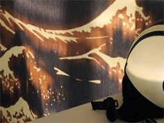 Japanese style motif vinyl wallpaper KANAGAWA Foulards Collection by Elitis
