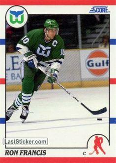 Hockey Cards, Baseball Cards, Ron Francis, Hartford Whalers, Ice Hockey Teams, Carolina Hurricanes, Nhl, Sports, Hs Sports
