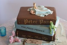 Peter pan cakes, baby shower cakes for boys, baby shower themes, baby Baby Shower Cakes For Boys, Baby Shower Cupcakes, Baby Shower Themes, Shower Ideas, Shower Baby, Girl Shower, Peter Pan Cakes, Fairy Baby Showers, Fairytale Baby Showers