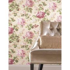 Riverside, Rose: Our delicate florals add warmth and an opulent touch to any scheme. Riverside Park, Go Wallpaper, Avenue Design, Wingback Chair, Accent Chairs, House Design, Rose, York Wallcovering, Furniture