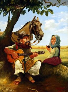 Rio Grande, Mexican Artwork, Cowboy And Cowgirl, Tango, Artist Painting, Traditional Art, Art Pictures, Folk, Horses
