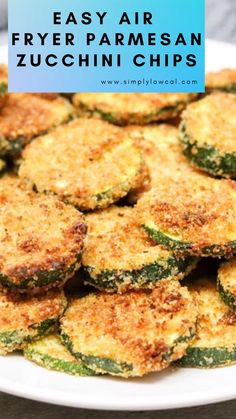 Easy air fryer Parmesan zucchini chips are a great snack, or side dish to any meal. They are also a great way to get in more vegetables. Fried Zucchini Recipes, Parmesan Zucchini Chips, Zucchini Chips Recipe, Healthy Eating Recipes, Healthy Snacks, Bento Recipes, Cooking Recipes, Air Fryer Oven Recipes, Diet