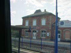 Bahnhofsgebäude von Herrlisheim am 25.07.2009.