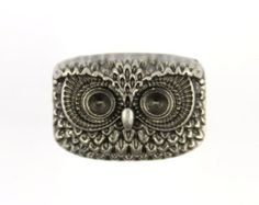 Metal Buttons - Owl Totem Nickel Silver Color Shank Metal Buttons. 0.87 inch. 6 Pcs.