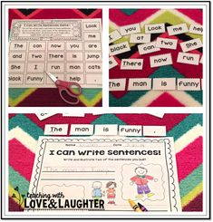 Teaching With Love and Laughter: I Can Write Sentences!