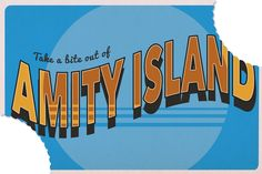 Postcards for fictional destinations by myprint247 -Amity Island