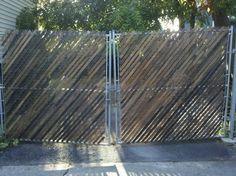 Chain Link Fence Wood Slats