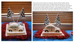 Herbie the Love Bug Cake! | Herbie party, VW bug cake, Disney cake