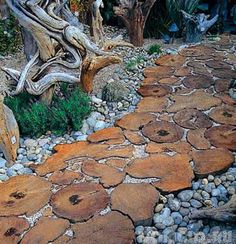 22 Ideas for MIxing Materials to Create Beautiful Yard Landscaping and Garden Paths eco friendly materials and backyard landscaping ideas for beautiful walkways and paths Front Yard Landscaping, Backyard Landscaping, Landscaping Ideas, Backyard Ideas, Garden Arbor, Garden Paths, Terrace Garden, Amazing Gardens, Beautiful Gardens