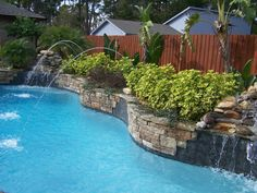 Swimming Pool with Waterfalls Perfect Solution for your Backyard