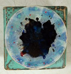 Laurie Geller Handmade Handpainted Colorful Decorative Ceramic Wood...Mixed Media....DESIGN....Plate by LaurieGeller on Etsy
