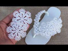 Beaded Dog Collar, Flip Flops, Crochet Earrings, Sandals, Youtube, Gallery, Jewelry, Fashion, Flip Flop Decorations