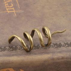 De alta Calidad de Las Mujeres de la Vendimia de Bronce Serpiente Ear Cuff Wrap…