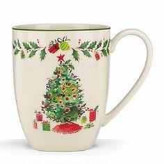 Holiday Illustrations Christmas Tree Mug by Lenox