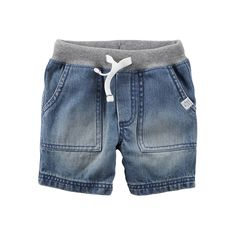 Carter's Pull-On Shorts Preschool Boys - JCPenney Cute Outfits For Kids, Baby Boy Outfits, Short Jeans Infantil, Baby Boy Fashion, Kids Fashion, Monokini, Baby Boy Bottoms, Short Niña, Toddler Jeans