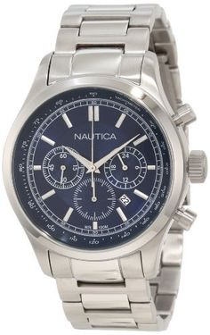Nautica Men's N20107G BFD 104 Chronograph Movement Watch NAUTICA. $200.00. Stainless steel case. Quartz movement. Case diameter: 44. Water-resistant to 100 M (330 feet). Durable mineral crystal protects watch from scratches