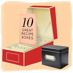 10 Recipe Boxes + My Family's Famous Mustard Sauce Recipe