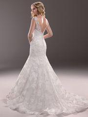 Cap Sleeves Illusion Bateau Neckline Mermaid Lace Wedding Dress - Buynewdresses.com