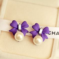 Bow and Pearl Fashion Earrings | LilyFair Jewelry, $12.99!