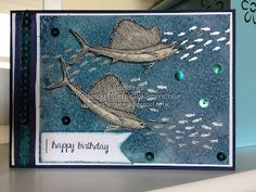 From Land To Sea Swordfish Birthday Card