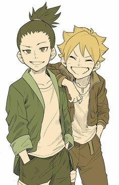 Sasunaru, Shikadai, Naruto Cute, Naruto Shippuden Anime, Naruto And Sasuke, Shikatema, Kakashi, Boruto Characters, Anime Characters