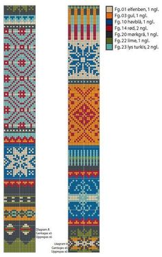 fair isle knitting Diagram til strikkeopskrift Fair Isle Knitting Patterns, Knitting Charts, Sweater Knitting Patterns, Knitting Stitches, Free Knitting, Knitting Socks, Knitting Machine, Motif Fair Isle, Fair Isle Chart