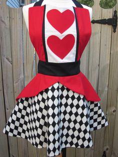 Queen of Hearts Apron. $40.00, via Etsy.