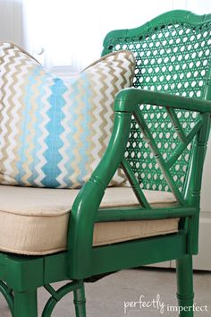 Painted Bamboo Furniture Perfectly Imperfect Furniture Paint Furniture A The Bamboo Chair 3 Coats Of Emerald Green In Gloss Painted Bamboo Furniture Images Green Furniture, Bamboo Furniture, Repurposed Furniture, Painted Furniture, Diy Furniture, Bamboo Chairs, Patio Chairs, Rehabbed Furniture, Geometric Furniture