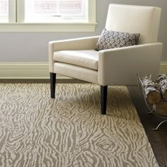 Love the rug! Just what I'm looking for, modern print that's somewhat subdued. Flor- Faux Bois in Bisque/Reed