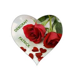 Create Your Own Heart Sticker/DEBORAH & PATRICK...created by aggie